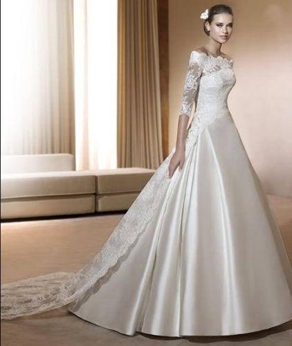 New White/ivory Wedding Dress Custom Size 2-4-6-8-10-12-14