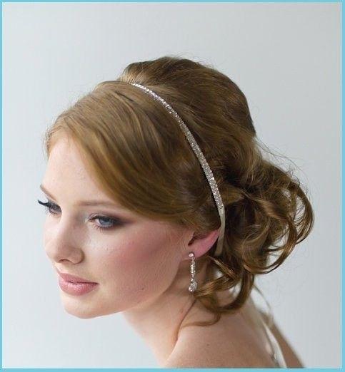 hair accessory bridal satin ribbon crystal headband tiara perfect hair