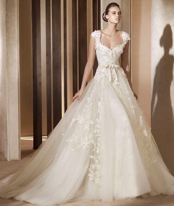 Hochzeit - Neue weiße Elfenbein-Hochzeits-Kleid-Brautkleid Benutzerdefinierte Größe 6 8 10 12 14 16 18 20