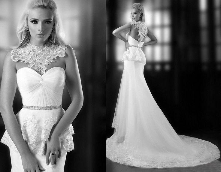 Mermaid style tulle low back wedding dress 2049961 weddbook for Low cut mermaid wedding dress