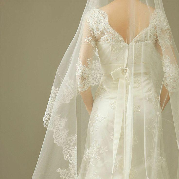 Lace Wedding Dress And Veil : Lace wedding veil images
