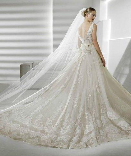 Mariage - Nouvelle taille blanche mariée robe de mariage nuptiale faite sur commande 2-4-6-8-10-12-14-16-18-20-22