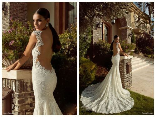 Wedding Backless Gown With The Mermaid Cut At The Bottom. #2050859 ...