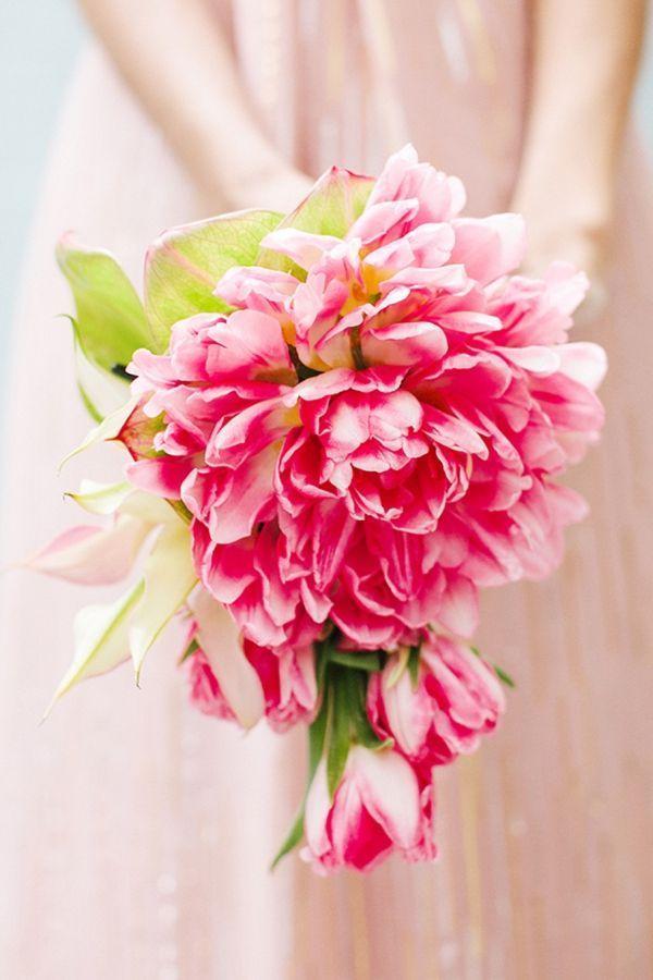 Hochzeit - Moderne Palm Springs Blumenstrauß.