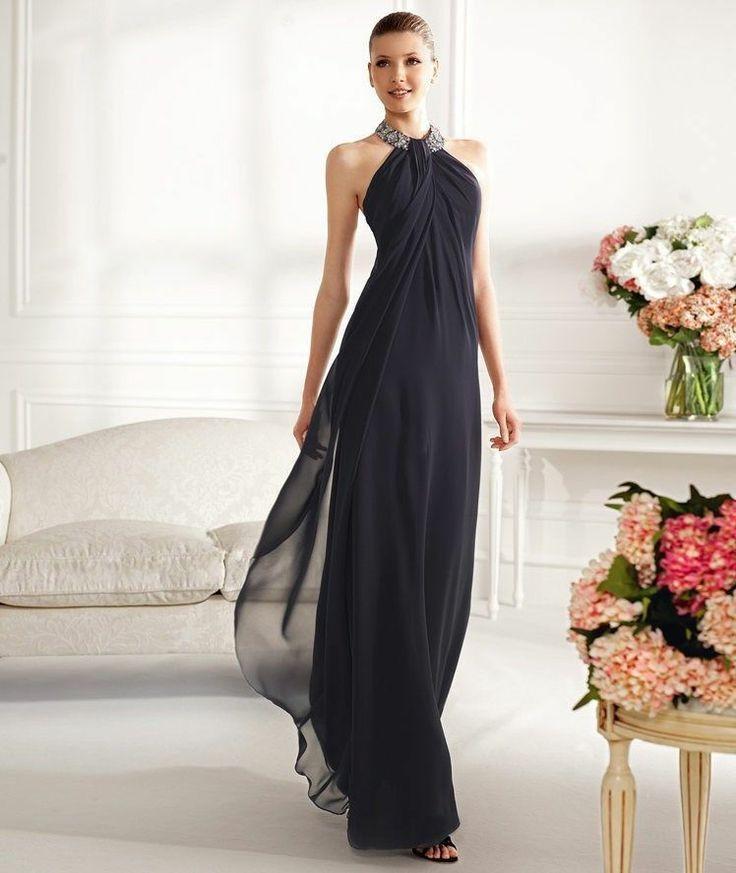 New Halter Beads Chiffon Wedding Dresses Bridesmaid Gown 2 4 6 8 10 ...