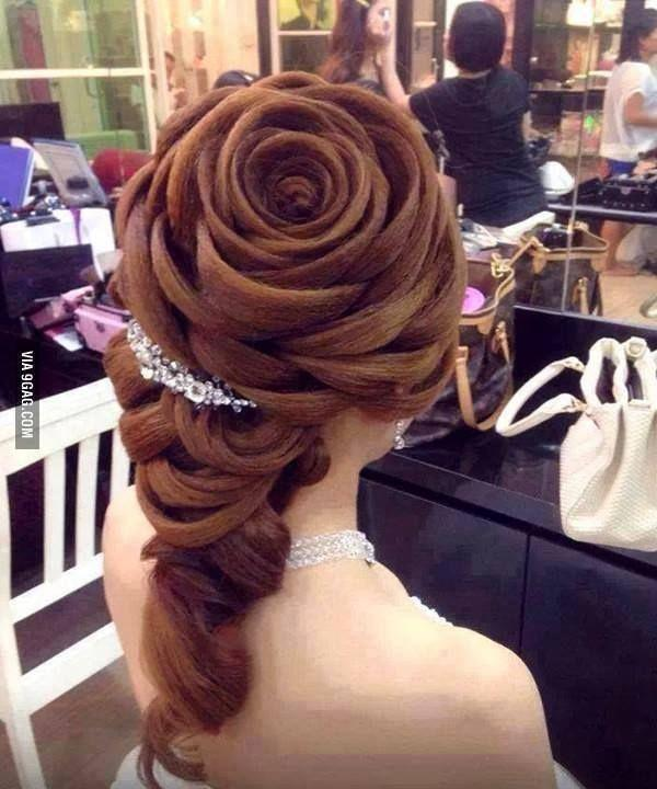 Wedding Hairstyle Looks Like A Rose With Petals 2052312 Weddbook