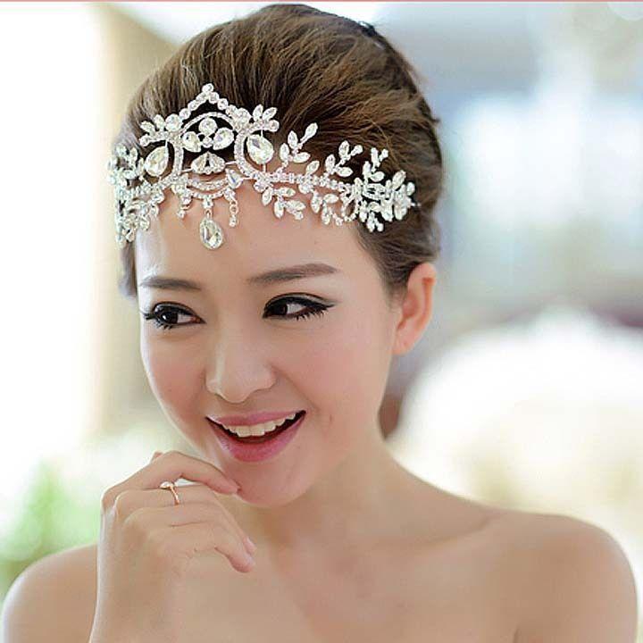 Bridal Rhinestone Crystal Dangle Topknot Necklace Forehead Deco Headpiece NR431 2052928