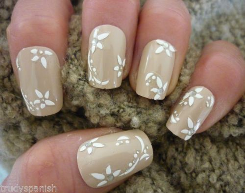 Details About 3d Nail Art Lace Stickers Decals White Vintage