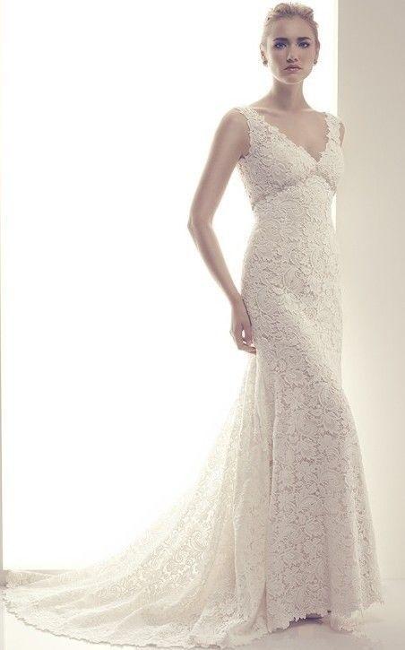 2014 white ivory lace wedding dresses bridal gown custom