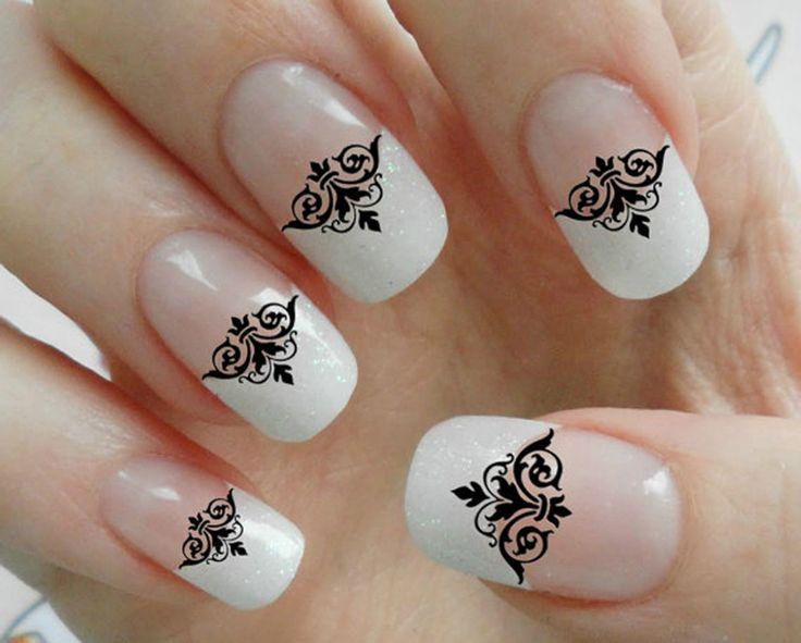 90 black lace damask nail art decals gothic tip manicure salon 90 black lace damask nail art decals gothic tip manicure salon quality results prinsesfo Image collections