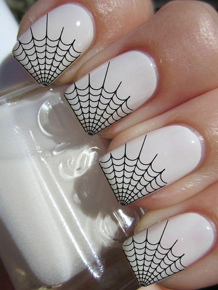 29 SPIDER WEB TIPS Nail Art -Professional Results Waterslide Decals ...