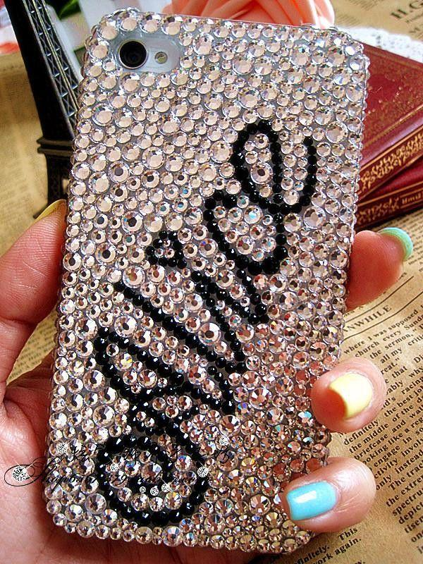 7116773aaf52d8 Personalized Name Rhinestone Crystals Bling IPhone 4 4s 5 5s 5c Case Cover 3