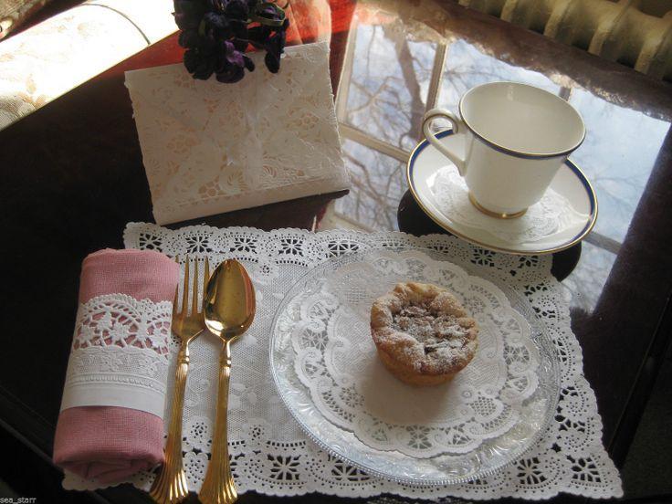 Mariage - Mariage thé engagement Baby Shower dentelle blanche de papier de partie Set 6 - Kit napperon