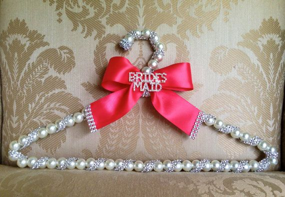 Maid Of Honor Gifts From Bride: Bridal Hanger Wedding Dress Hanger Dress Hanger Brooch For