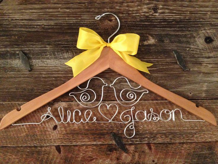 Bridal Hanger / Wedding Hanger / LOVE BIRDS Wedding / Rustic Wedding ...