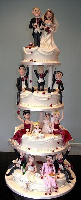 Wedding - Unique Party Wedding Cake     Awesome
