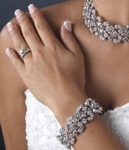 Mariage - TNO NEW Argent strass nuptiale de bal Bracelet extensible
