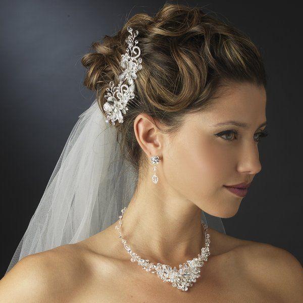 NWT Crystal And Diamante Rhinestone Wedding Hair Comb And Jewelry Set #2070215 - Weddbook