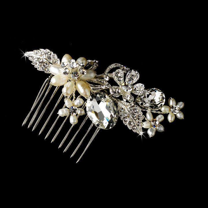 Mariage - TNO élégante perle d'eau douce et cristal de mariée mariage de bal Peigne
