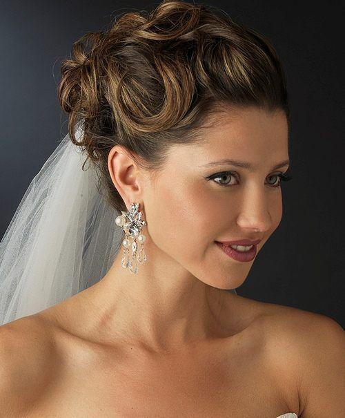 NWT Diamond White Pearl And Crystal Wedding Chandelier Bridal – Pearl Chandelier Bridal Earrings