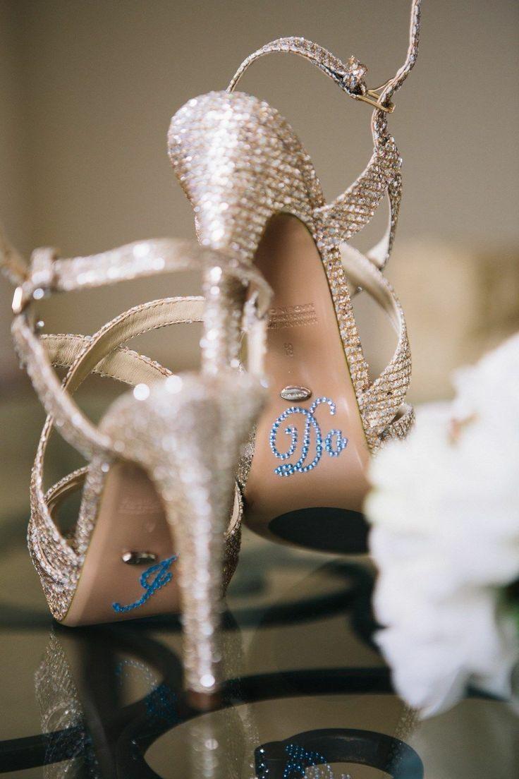 Hochzeit - Ich Schuh Aufkleber tun für Brautschuhe Strass Schuh Decals