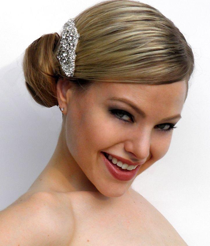 Свадьба - Wedding Vintage Inspired Bridal Hair Crystal Side Comb Brooch