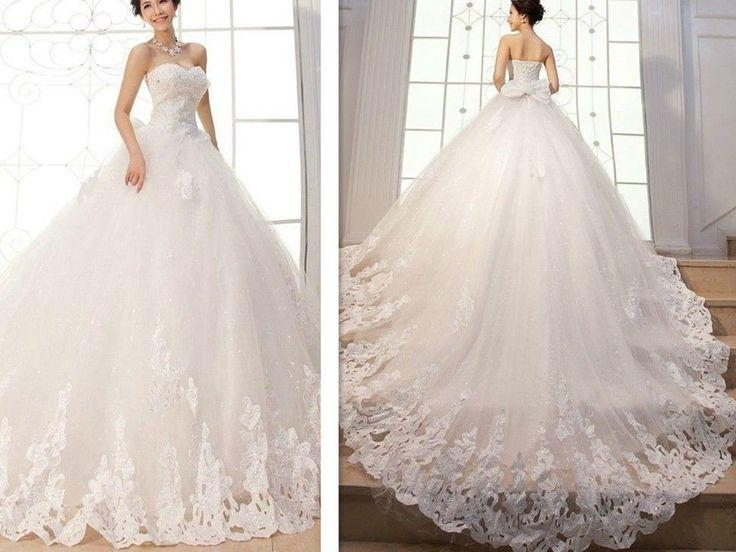 New Appliques Ball Gown Elegant Wedding Dresses Bridal Gowns Custom ...