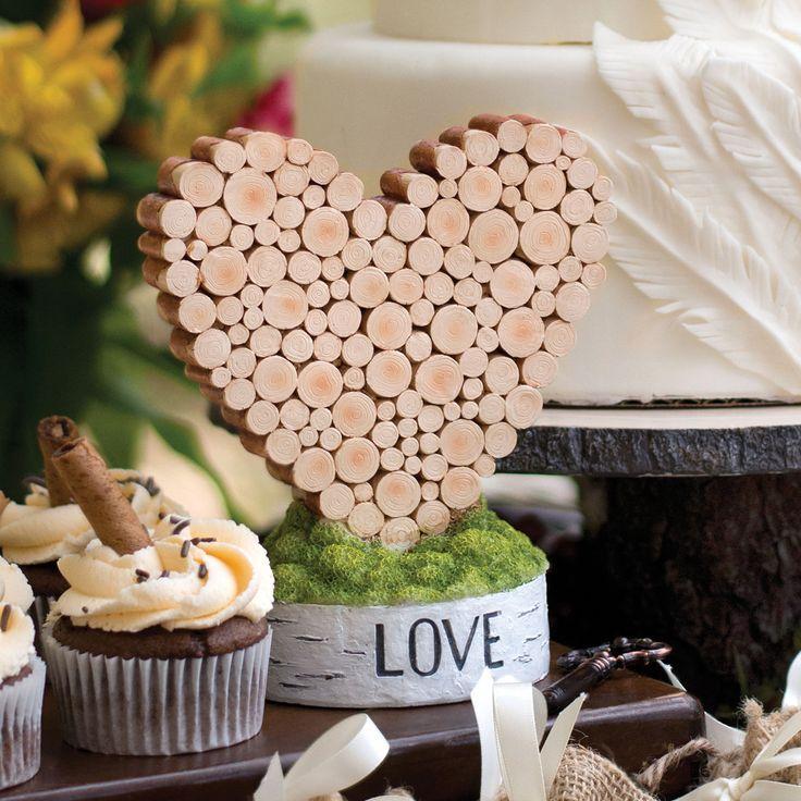 زفاف - Hortense Rustic Heart Love Wedding Table Decor Decoration