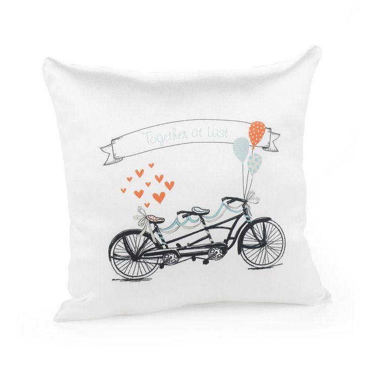 زفاف - Hortense Tandem Bike Together At Last Ring Bearer Pillow Can Be Personalized