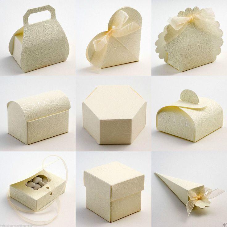 Wedding Favor Boxes Trinidad : Best quality diy soft cream embossed rose wedding favour