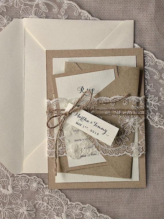custom listing 100 rustic wedding invitation buralp wedding invitations rustic wedding invitations lace wedding invitation new