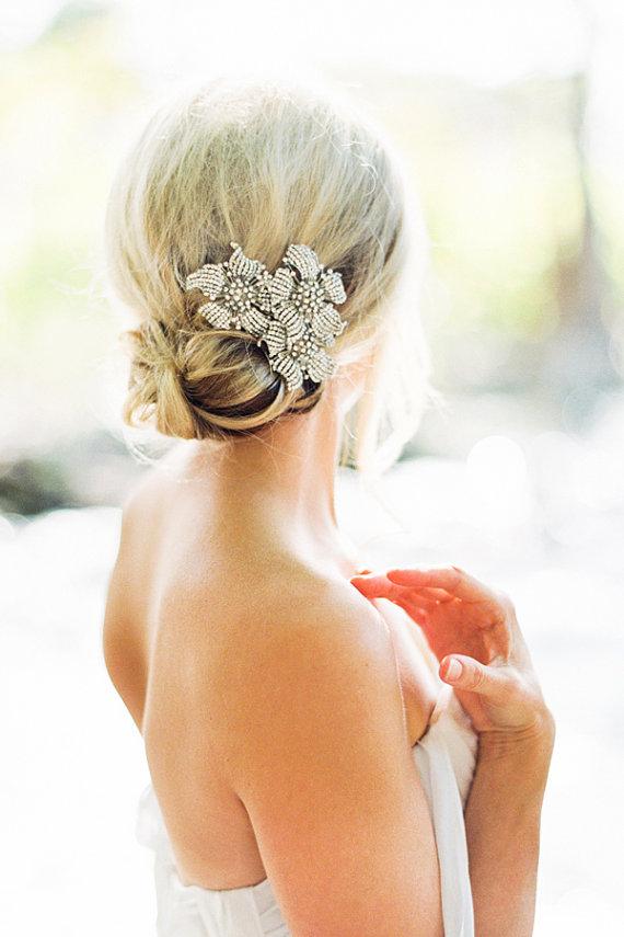 Mariage - Valentina Crystals Silver Bridal Headpiece  Wedding Hairpiece - New