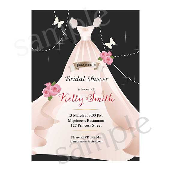 Bridal Shower invitation Wedding Shower invitation Shabby Chic Wedding