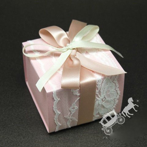 Fairytale Wedding Favors | Fairytale Wedding Favor Boxes Set Of 50 With Lace And Ribbon Bow