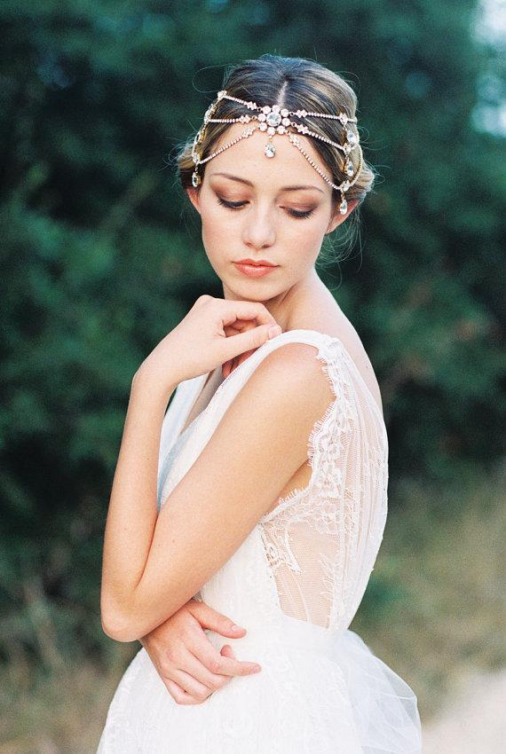Mariage - Melora  Swarovski Crystal Headband  Silver Bridal Headpiece  Wedding - New
