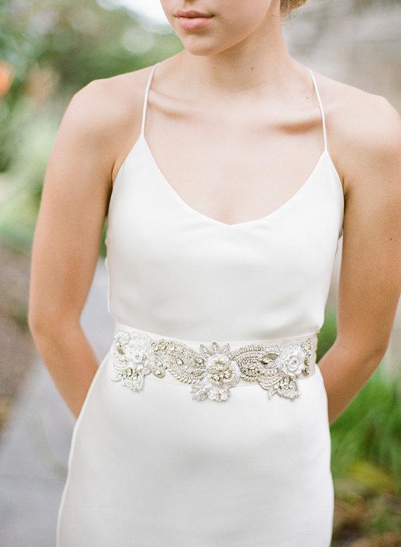 Mariage - Sharon Bridal Sash  Swarovski Crystals Wedding Belt - New