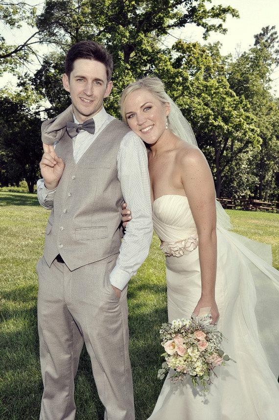 Свадьба - Champagne Wedding Sash, Bridal Sash, Wedding Belt, Bridal Belt -Champagne Flowers - New