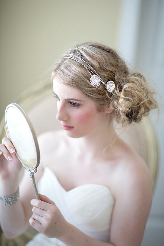 ... Hair Wrap, Wedding Head Piece, Wedding Hair Accessory, Bridal Headband
