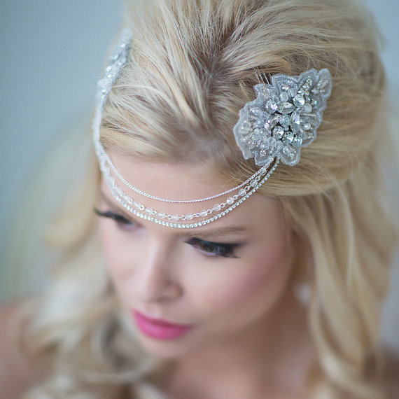 Mariage - Wedding Hair Accessory, Bridal Head Piece, Gatsby Style Head Piece - New