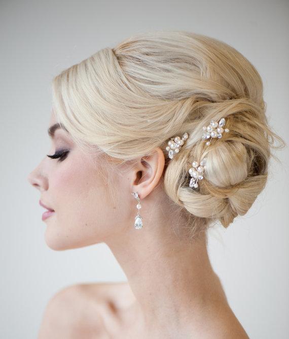 Wedding - Bridal Hairpins, Wedding Hairpins, Swarovski Hairpins, Pearl Hairpins - DIANNE - New
