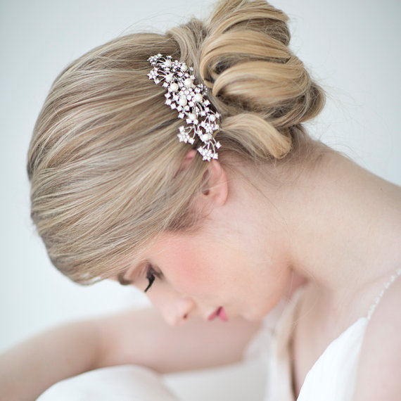 Mariage - Wedding Hair Comb,  Bridal Head Piece, Crystal and Pearl Haircomb, Wedding Hair Accessory - New