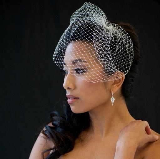 زفاف - Birdcage Veil, 9 Inch Birdcage Veil, Wedding Veil, Short Birdcage Veil - KAREN - New