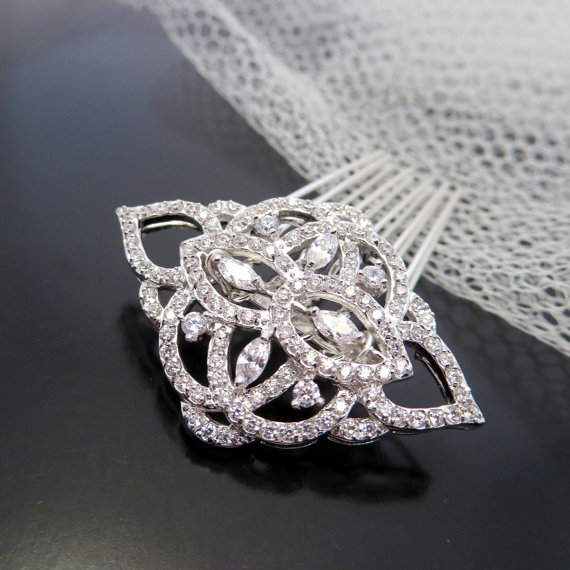 Bridal hair comb bridal hair clip rhinestone hair comb crystal hair