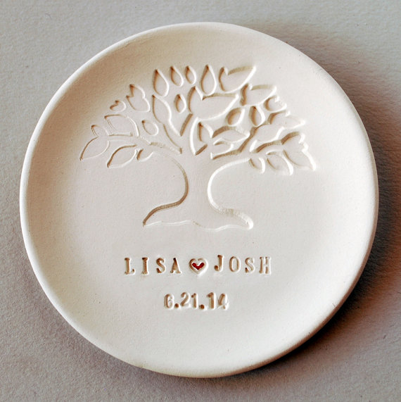 Wedding Gift For Bride From Bridesmaid : WeddingWedding Favor Wedding gift Ring Dish Personalized ...