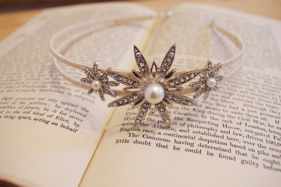 زفاف - Art Deco  Double Headband Side Tiara Vintage Style Bridal Hair Accessories - New