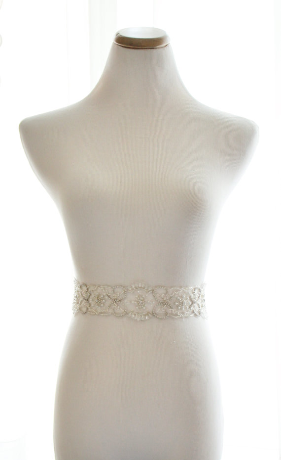 Свадьба - Amazing Beaded Crystal Rhinestone Bridal Sash, Rhinestone Bridal Belt - New