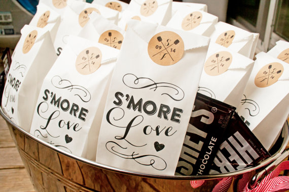 S\'mores Wedding Favor Bags - S\'more Love - 25 Tall White Bags - New ...