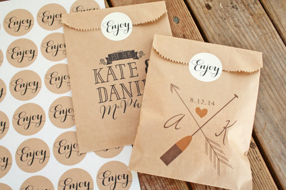 Medium Enjoy Sticker Seals Wedding Favor Bag Accessory 25