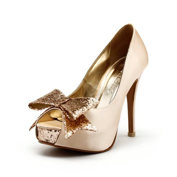 Wedding - Cranberry -  Champagne Wedding Heels