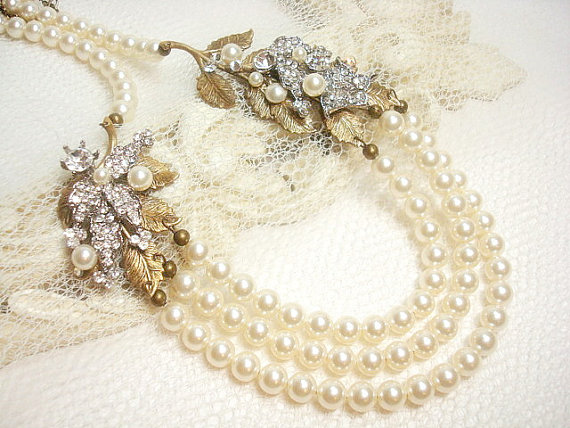 Mariage - Bridal necklace -  wedding jewelry
